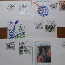 Sellos: SELLOS ESPAÑA SOBRES PRIMER DIA ANDORRA AÑO 1992 COMPLETO. Lote 251157280