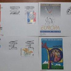 Sellos: SELLOS ESPAÑA SOBRES PRIMER DIA ANDORRA AÑO 1993 COMPLETO. Lote 251157400