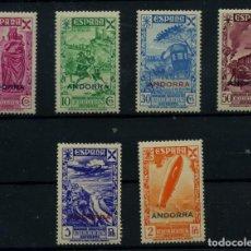 Sellos: ANDORRA ESPAÑOLA (BENEFICENCIA) Nº 7/12. AÑO 1943. Lote 253137470