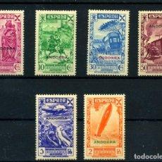 Sellos: ANDORRA ESPAÑOLA (BENEFICENCIA) Nº 1/6. AÑO 1938. Lote 253137705