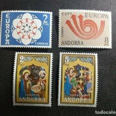 Sellos: SELLOS ESPAÑA: ANDORRA AÑO 1973 COMPLETO Y NUEVO MNH. Lote 254781790