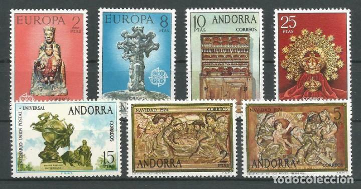 SELLOS ESPAÑA: ANDORRA AÑO 1974 COMPLETO Y NUEVO MNH (Sellos - España - Dependencias Postales - Andorra Española)