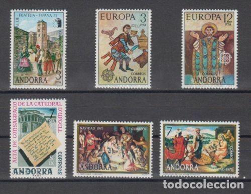 SELLOS ESPAÑA: ANDORRA AÑO 1975 COMPLETO Y NUEVO MNH (Sellos - España - Dependencias Postales - Andorra Española)