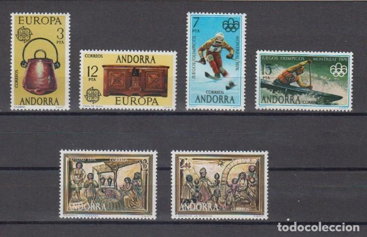 SELLOS ESPAÑA: ANDORRA AÑO 1976 COMPLETO Y NUEVO MNH (Sellos - España - Dependencias Postales - Andorra Española)