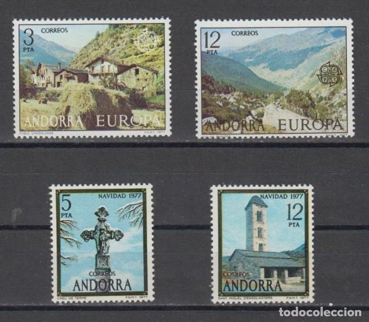 SELLOS ESPAÑA: ANDORRA AÑO 1977 COMPLETO Y NUEVO MNH (Sellos - España - Dependencias Postales - Andorra Española)
