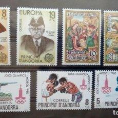 Sellos: SELLOS ESPAÑA: ANDORRA AÑO 1980 COMPLETO Y NUEVO MNH. Lote 254783910