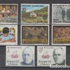 Sellos: SELLOS ESPAÑA: ANDORRA AÑO 1981 COMPLETO Y NUEVO MNH. Lote 254783970