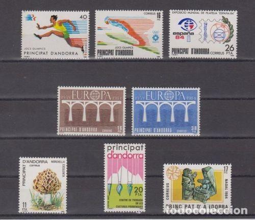 SELLOS ESPAÑA: ANDORRA AÑO 1984 COMPLETO Y NUEVO MNH (Sellos - España - Dependencias Postales - Andorra Española)