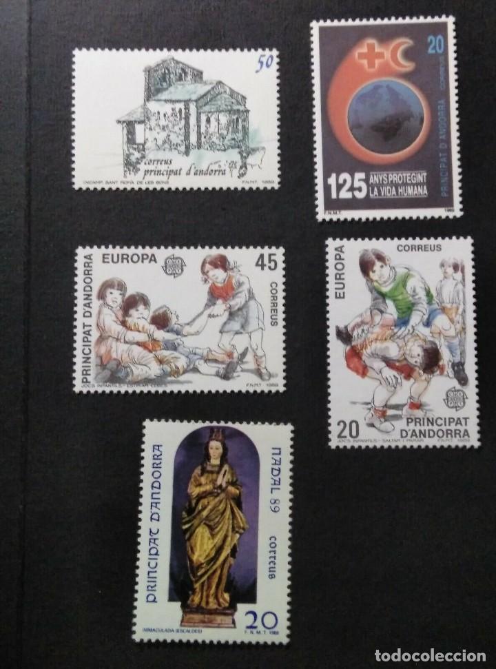 SELLOS ESPAÑA: ANDORRA AÑO 1989 COMPLETO Y NUEVO MNH (Sellos - España - Dependencias Postales - Andorra Española)