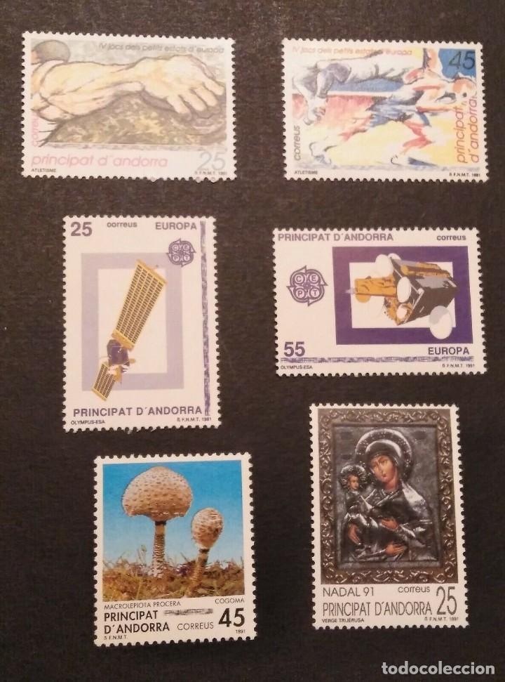 SELLOS ESPAÑA: ANDORRA AÑO 1991 COMPLETO Y NUEVO MNH (Sellos - España - Dependencias Postales - Andorra Española)