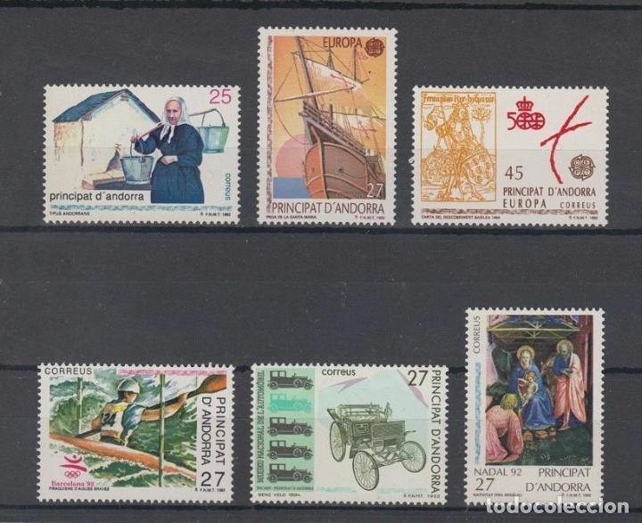 SELLOS ESPAÑA: ANDORRA AÑO 1992 COMPLETO Y NUEVO MNH (Sellos - España - Dependencias Postales - Andorra Española)