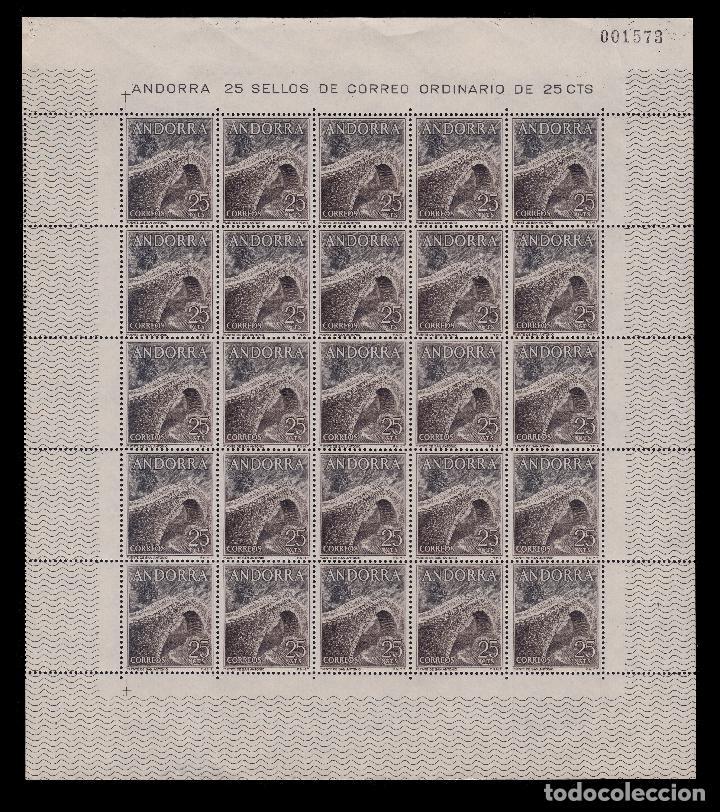 Sellos: ANDORRA.CORREO ESPAÑOL.1963-4.Tipos. Pliegos 25.MNH.Edifil 160-162 - Foto 2 - 255484960