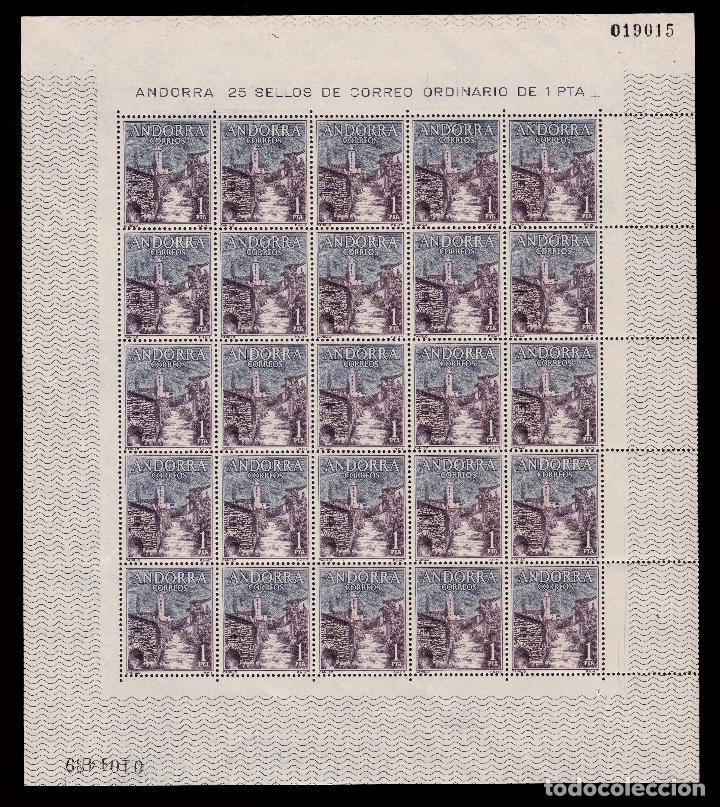 Sellos: ANDORRA.CORREO ESPAÑOL.1963-4.Tipos. Pliegos 25.MNH.Edifil 160-162 - Foto 4 - 255484960