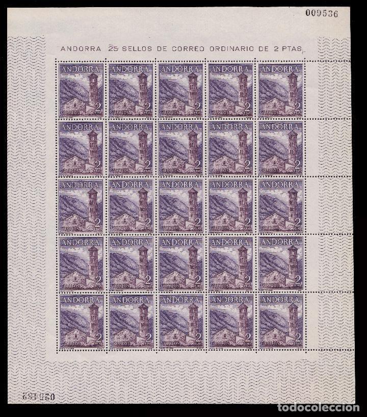 Sellos: ANDORRA.CORREO ESPAÑOL.1963-4.Tipos. Pliegos 25.MNH.Edifil 160-162 - Foto 5 - 255484960