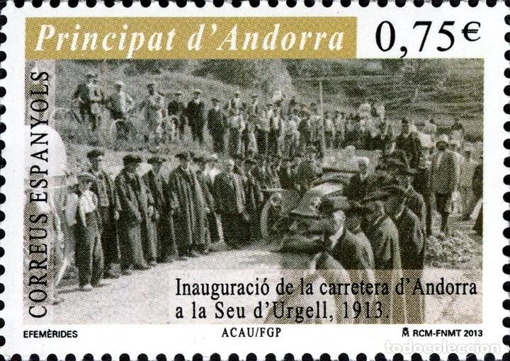 ANDORRA 2013 EDIFIL 402 SELLO ** INAUGURACIÓN DE LA CARRETERA DE ANDORRA A LA SEU DE'URGELL MI. 398 (Sellos - España - Dependencias Postales - Andorra Española)