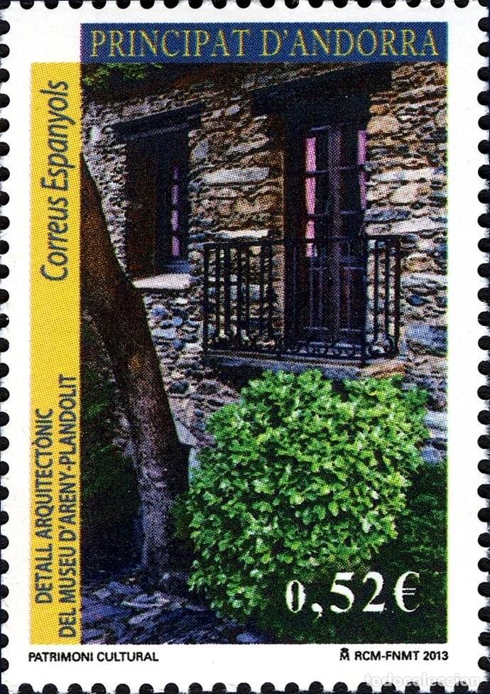 ANDORRA 2013 EDIFIL 403 SELLO ** PATRIMONIO CULTURAL DETALLE ARQUITECTONIO DEL MUSEO D'ARENY PLANDOL (Sellos - España - Dependencias Postales - Andorra Española)