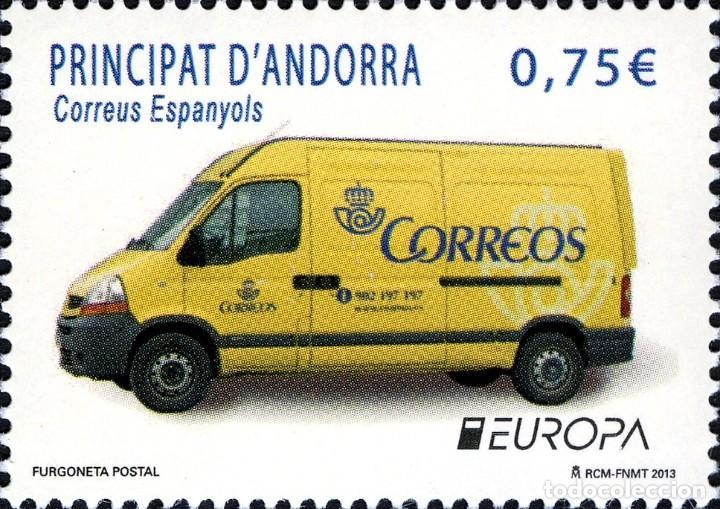 ANDORRA 2013 EDIFIL 405 SELLO ** EUROPA CEPT HISTORIA DEL CORREO FURGONETA POSTAL MICHEL 401 YV. 391 (Sellos - España - Dependencias Postales - Andorra Española)