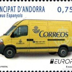 Sellos: ANDORRA 2013 EDIFIL 405 SELLO ** EUROPA CEPT HISTORIA DEL CORREO FURGONETA POSTAL MICHEL 401 YV. 391. Lote 256043165