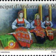 Sellos: ANDORRA 2013 EDIFIL 406 SELLO ** DIVERSIDAD ANDORRANA POBLACION PORTUGUESA TRAJES TÍPICOS MICHEL 402. Lote 256043405