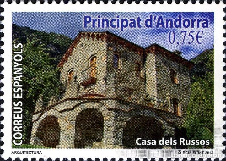 ANDORRA 2013 EDIFIL 407 SELLO ** ARQUITECTURA CASA DELS RUSSOS MICHEL 403 YVERT 393 PRINCIPAT D'ANDO (Sellos - España - Dependencias Postales - Andorra Española)