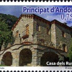 Sellos: ANDORRA 2013 EDIFIL 407 SELLO ** ARQUITECTURA CASA DELS RUSSOS MICHEL 403 YVERT 393 PRINCIPAT D'ANDO. Lote 256043470
