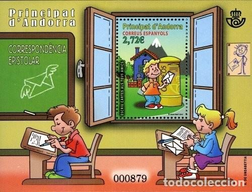 ANDORRA 2013 EDIFIL 408 SELLO ** HB COMICS CORREO EPISTOLAR BUZON DE CORREOS MICHEL BL8 YVERT 394 (Sellos - España - Dependencias Postales - Andorra Española)