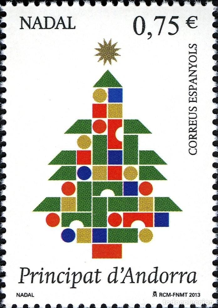 ANDORRA 2013 EDIFIL 411 SELLO ** NAVIDAD CHRISTMAS NADAL ARBOL MICHEL 407 YVERT 397 PRINCIPAT D'ANDO (Sellos - España - Dependencias Postales - Andorra Española)
