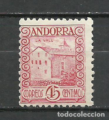 ANDORRA (CORREO ESPAÑOL) - 1935 - EDIFIL 38* MH (Sellos - España - Dependencias Postales - Andorra Española)