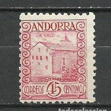 Sellos: ANDORRA (CORREO ESPAÑOL) - 1935 - EDIFIL 38* MH. Lote 256146980