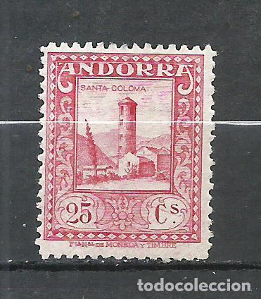 ANDORRA (CORREO ESPAÑOL) - 1929 - EDIFIL 20* MH (Sellos - España - Dependencias Postales - Andorra Española)