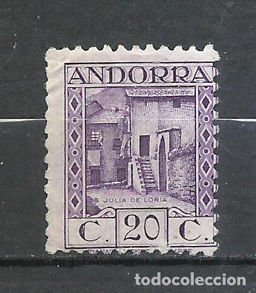 ANDORRA (CORREO ESPAÑOL) - 1931 - EDIFIL 19D* MH (SIN GOMA) (Sellos - España - Dependencias Postales - Andorra Española)