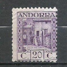 Sellos: ANDORRA (CORREO ESPAÑOL) - 1931 - EDIFIL 19D* MH (SIN GOMA). Lote 256147315