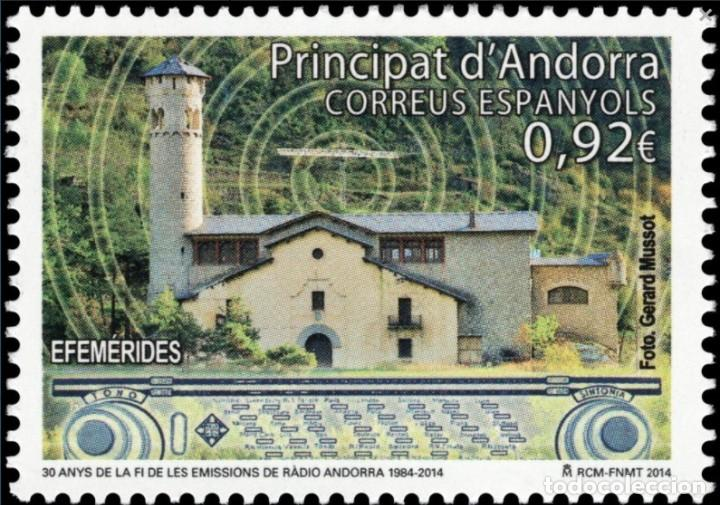 ANDORRA 2014 EDIFIL 419 SELLO ** ANIVERSARIO DEL FIN EMISIONES DE RADIO ANDORRA MICHEL 415 YVERT 405 (Sellos - España - Dependencias Postales - Andorra Española)