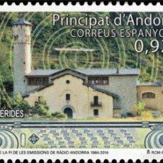 Sellos: ANDORRA 2014 EDIFIL 419 SELLO ** ANIVERSARIO DEL FIN EMISIONES DE RADIO ANDORRA MICHEL 415 YVERT 405. Lote 257293815