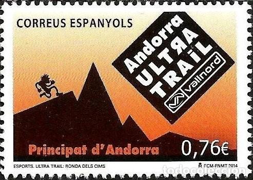 ANDORRA 2014 EDIFIL 421 SELLO ** DEPORTES ULTRA TRAIL VALLNORD RONDA DE LAS CIMAS MICHEL 417 YV. 407 (Sellos - España - Dependencias Postales - Andorra Española)