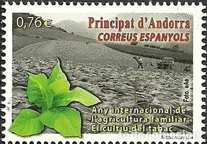 ANDORRA 2014 EDIFIL 423 SELLO ** AÑO INTERNACIONAL DE LA AGRICULTURA FAMILIAR, EL CULTIVO DEL TABACO (Sellos - España - Dependencias Postales - Andorra Española)