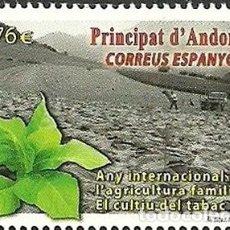 Sellos: ANDORRA 2014 EDIFIL 423 SELLO ** AÑO INTERNACIONAL DE LA AGRICULTURA FAMILIAR, EL CULTIVO DEL TABACO. Lote 257294730