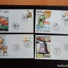 Sellos: ANDORRA AÑO COMPLETO 1986 SOBRES DE PRIMER DÍA FDC GRAN OCASION. Lote 257870280