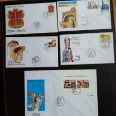 Sellos: ANDORRA AÑO COMPLETO 1987 SOBRES DE PRIMER DÍA FDC GRAN OPORTUNIDAD. Lote 257872195