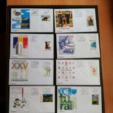 Timbres: ANDORRA AÑO COMPLETO 2008 SOBRES DE PRIMER DÍA FDC BAJO FACIAL DOS IMAGENES. Lote 257878360