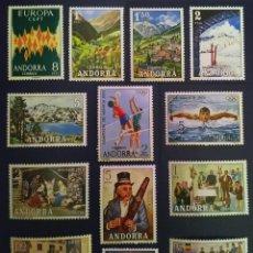 Sellos: ANDORRA ESPAÑOLA. AÑO 1972 COMPLETO NUEVO. Lote 260438770