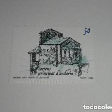 Sellos: ANDORRA EDIFIL 215*** - AÑO 1989 - TURISMO - IGLESIA DE SANT ROMA DE LES BONS NUEVO. Lote 260762780