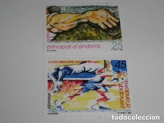 ANDORRA EDIFIL 223/24*** - AÑO 1991 - 4º JUEGOS DEPORTIVOS DE LOS PEQUEÑOS ESTADOS DE EUROPA (Sellos - España - Dependencias Postales - Andorra Española)