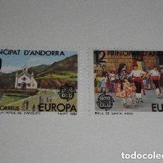 Sellos: TEMA EUROPA 1981 - ANDORRA ESPAÑOLA/CORREO ESPAÑOL - FIESTAS POPULARES -2 SELLOS- S.COMPLETA - NUEVA. Lote 260764260
