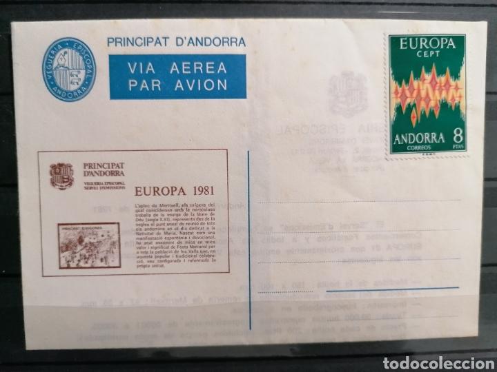 Sellos: Andorra España Europa 1972 sobre Vegueria Episcopal Emisión 1981 - Foto 4 - 261117350