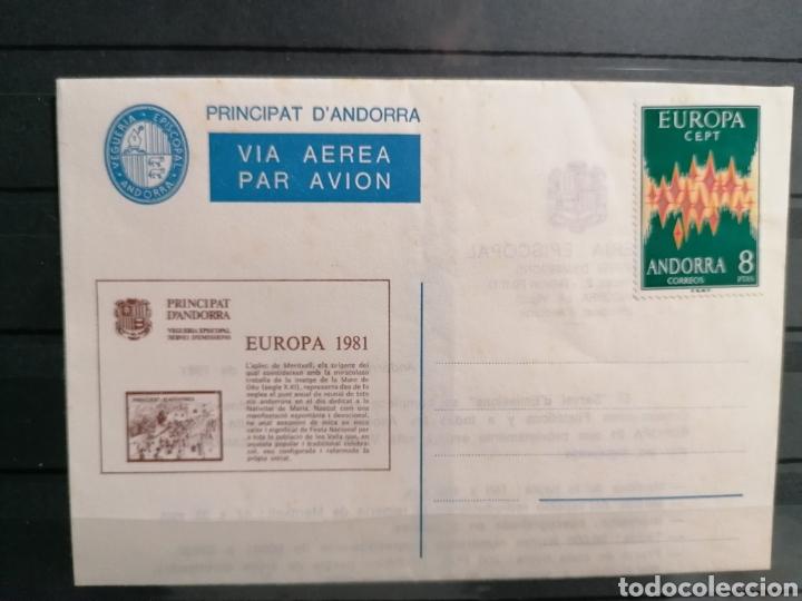 ANDORRA ESPAÑA EUROPA 1972 SOBRE VEGUERIA EPISCOPAL EMISIÓN 1981 (Sellos - España - Dependencias Postales - Andorra Española)