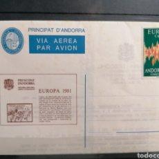 Sellos: ANDORRA ESPAÑA EUROPA 1972 SOBRE VEGUERIA EPISCOPAL EMISIÓN 1981. Lote 261117350