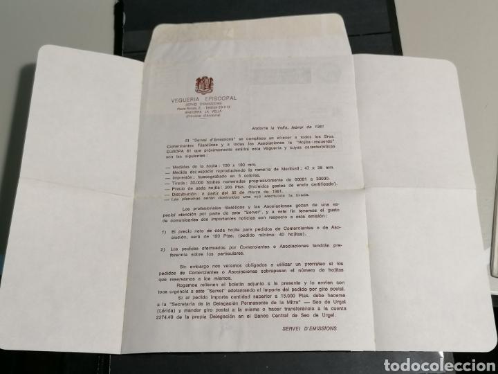 Sellos: Andorra España Europa 1972 sobre Vegueria Episcopal Emisión 1981 - Foto 5 - 261117350