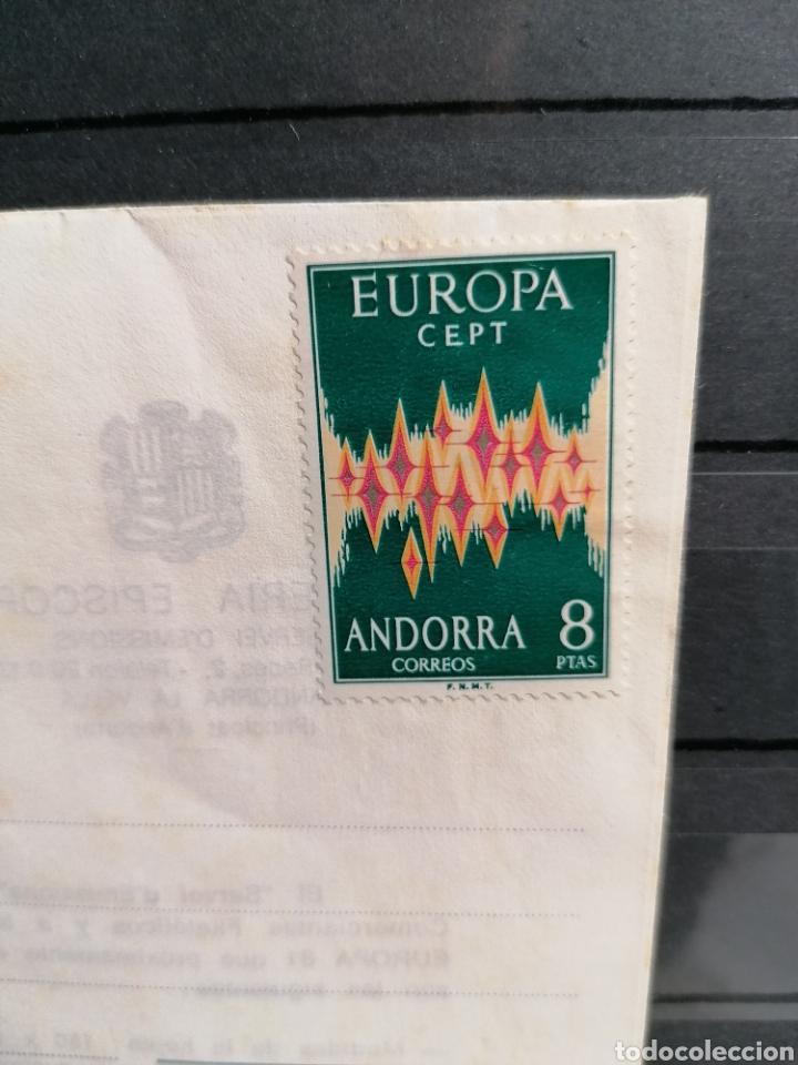 Sellos: Andorra España Europa 1972 sobre Vegueria Episcopal Emisión 1981 - Foto 2 - 261117350