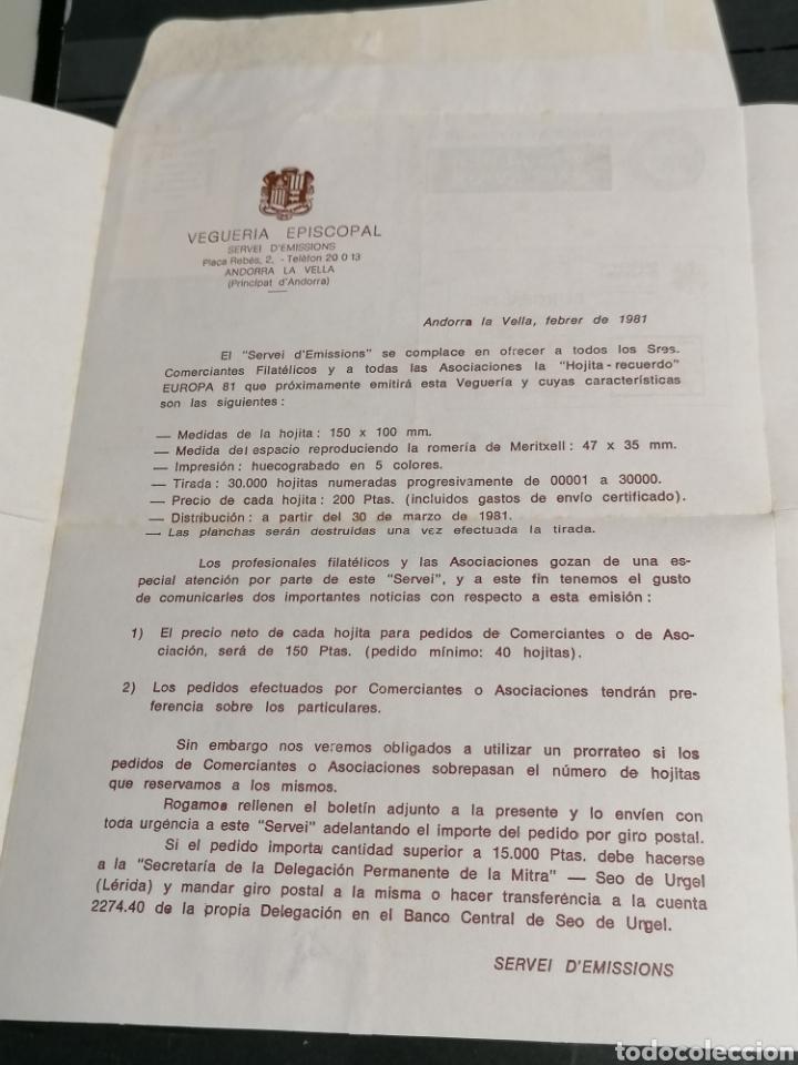 Sellos: Andorra España Europa 1972 sobre Vegueria Episcopal Emisión 1981 - Foto 3 - 261117350